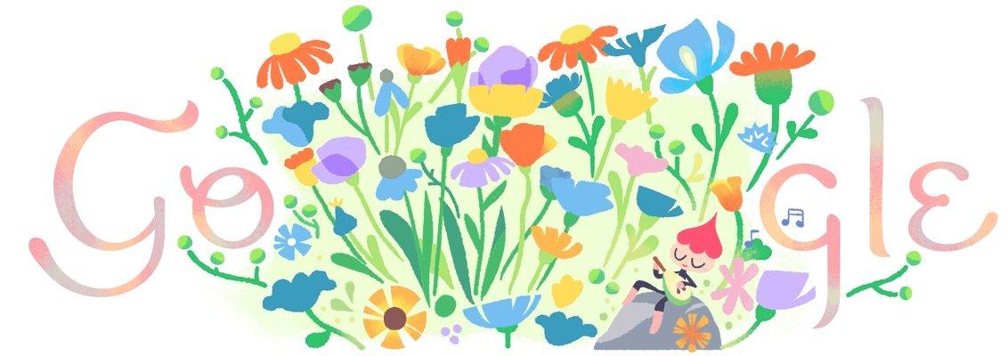 Google Doodle celebrates the spring equinox 2018